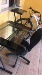 Mesa de escritório de vidro top