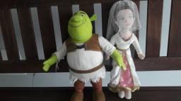 Boneco Shrek e Fiona