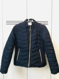 Jaqueta de Nylon P, azul marinho