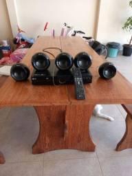 DvD LG com 5 caixas de som