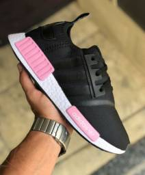 NMD adidas preto/branco/rosa