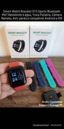 Smart Watch D13 Sports Bluetooth Resistente à água, Troca Pulseira, Android e IOS
