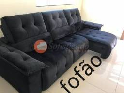 Sofá super luxo retrátil e reclinável em até 10 vezes sem juros no cartão de crédito