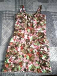 Vestido de linho - tamanho M - floral