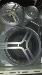 Par de caixas acústicas de minisystem Panasonic usadas