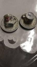 Conjunto porcelana de xicaras