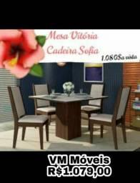 Mesa de jantar com 4 cadeiras - entrego e monto sem taxa