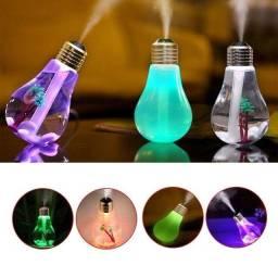 Título do anúncio: Difusor Umidificador de ar Luminária Ambiente Lâmpada Luz Led Usb
