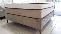 Cama box + colchao Aquarius Visco Pockt 34cm Casal 138x88
