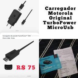 *ORIGINAL* Carregador de parede TurboPower 18W Micro-USB
