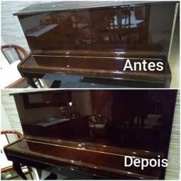 Polimento e cristalização de piano