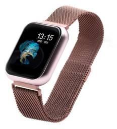 Relógio Smart Watch Batimento Cardíaco Duas Pulseiras