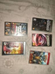 Jogos de PSP original 5 com capinha e 4 sem total de 9 jogos