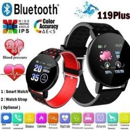 Smart Watch 119 Plus / Monitor De Fitness / Frequência Cardíaca / Pressão