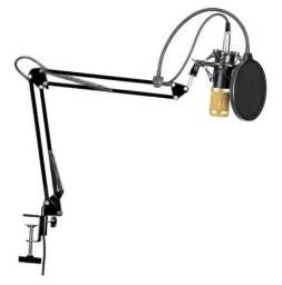 Microfone Profissional Condensador com Braço Articulado