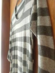 Blusa feminina listrada tamanho PP