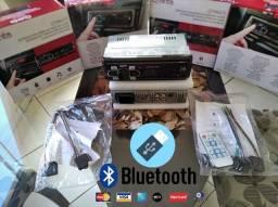Radio Bluetooth 2 USB/FM Cartão SD e 4RCA Novo