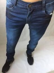 Calça jeans e calça de sarja masculina com elastano skinny
