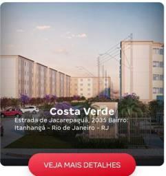 Apt. 2 Qts! Jacarepaguá: Costa Verde/Entrada em 60x