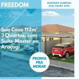 [67]-CASA pronta pra morar/ Planta de 112 m² - Araçagi