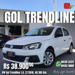 Smart Veículos - VW Gol Trendline 1.0, 17/2018, 40.305 Km. R$ 38.900,00