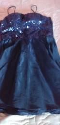 Vestido de festa com saia em tafetá M