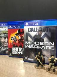 Call OF Duty Modern Warfare E Red Dead Rredemption 2 - PS4
