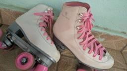 Patins Gonew Quad 39 branco e rosa