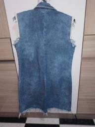 Colete jeans semi novo