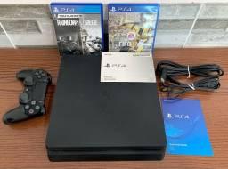 PlayStation 4 - PS4 Slim - Cabos e Jogos