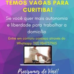 Temos vagas URGENTE em Curitiba