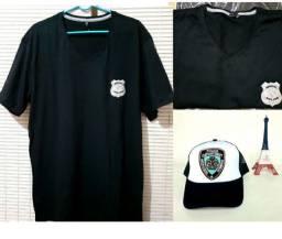 Camisa e boné importado da NYPD