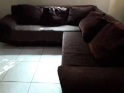 Sofá marrom usado