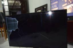 TV Samsung 55 Polegadas UN55MU6100 Televisão para peças Tela Quebrada
