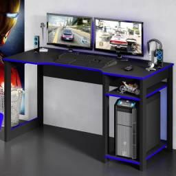 Mesa gamer azul