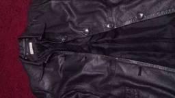 Blazer de couro feminino