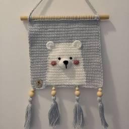 Flâmula de urso em crochê