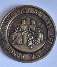 Medalha Banco Crédito Real Minas Gerais 1960 Bronze assinada por Natale