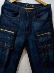 Título do anúncio: Calça Jeans Masculina com Bolso de Zíper