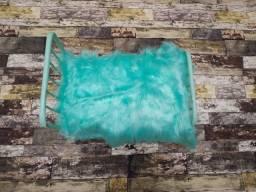 Fundo de tecido para ensaio newborn imitando madeira escura