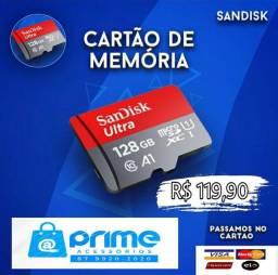 Cartão de memória Sandisk 128GB