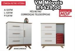 Cômoda retrô- Vitória - entrego e monto sem taxa