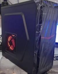 Top - Pc Gamer Intel Core + win 10 + ssd + Gabinete Gamer Led Red novo na caixa