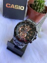 Vendo relógio Casio edifice novo em aço!
