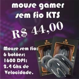Mouse GAMER sem fio KTS 6 botões