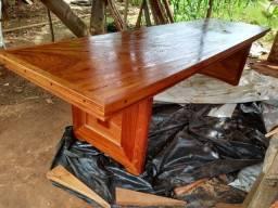 Mesa de madeira Angelim Pedra 3m