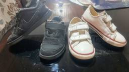 Vendo Nike e All Star couro Infantil 26