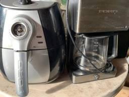 O lote de 10 Eletrodomesticos para conserto ou peças cafeteira,fritadeira,etç.