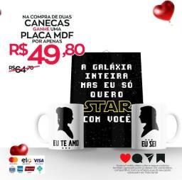 Dia dos Namorados - Caneca e Placa Personalizada