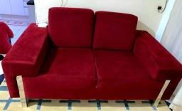 Sofá no tecido Suede